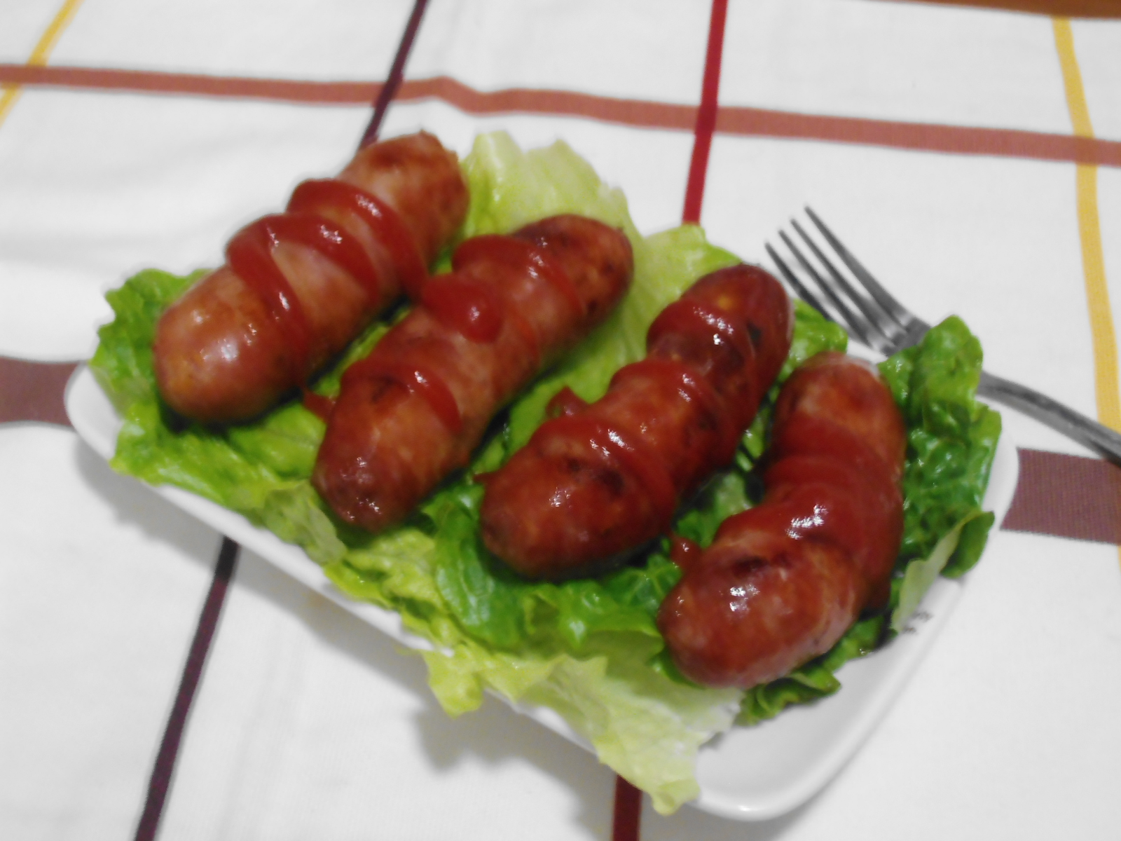 Baked sausages (Taiwan style).
